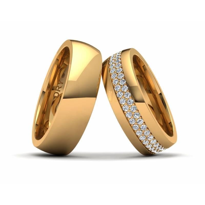 Alianzas oro amarillo y diamantes 191154