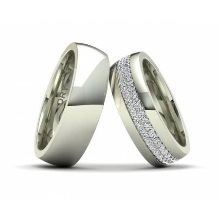 Alianzas oro blanco y diamantes 191154