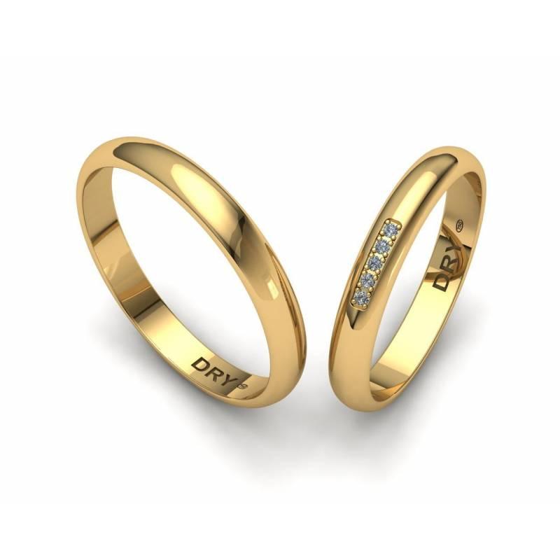 Five Diamonds Classic wedding bands