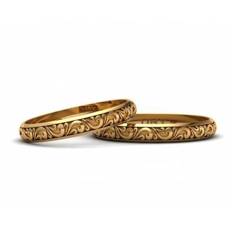 Alianzas Vintage de oro