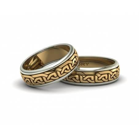 Anillos celtas de oro bicolor