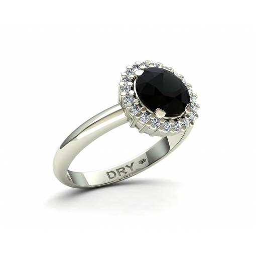 Anillo con Diamante Negro