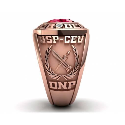 sello de graduación de derecho en oro rosa