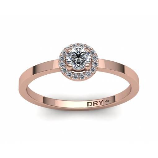 18k Gold Diamonds Rosette Ring