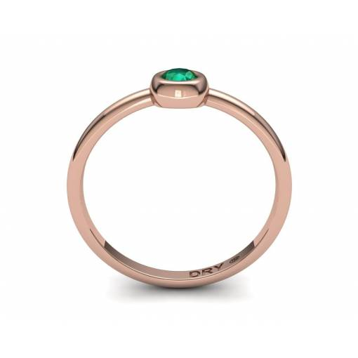 Delicate Emerald Gold Ring