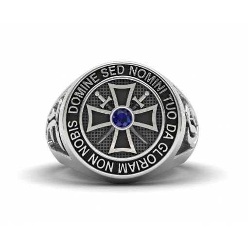 Silver Knights Templar Ring