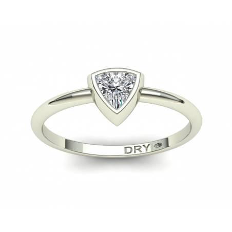 18k White Gold Trillion Cut Diamond Ring