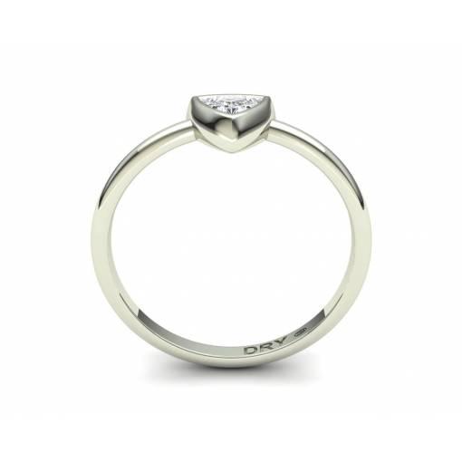18k Gold Trillion Cut Diamond Engagement Ring