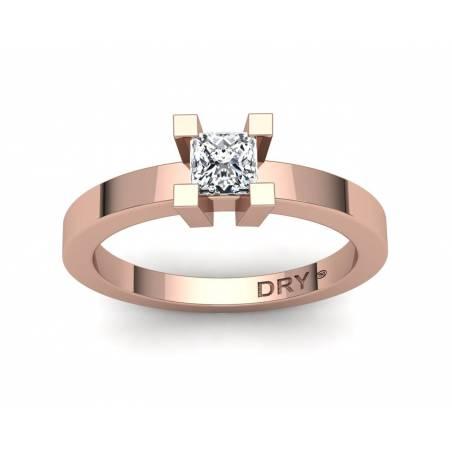 18k Rose gold 0.40cts princess-cut diamond engagement ring