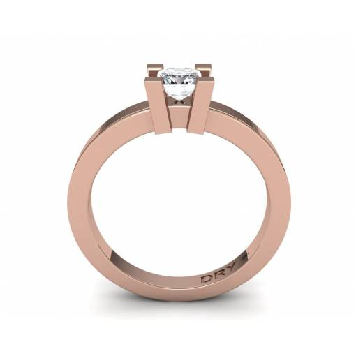 18k Rose gold 0.40cts princess-cut diamond ring