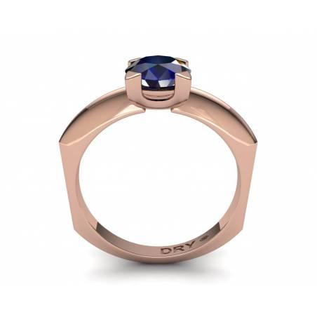 18k Rose gold sapphire engagement ring