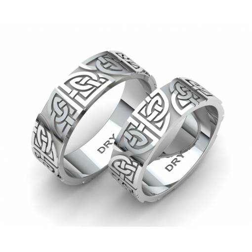 Silver matching Celtic wedding rings