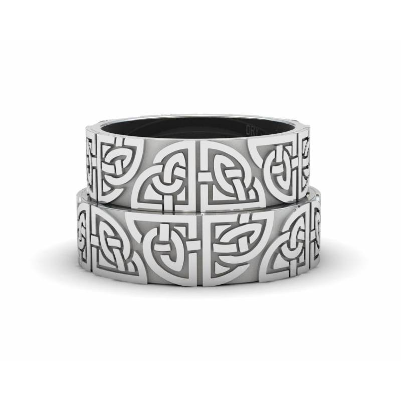 Silver Matching Celtic Rings