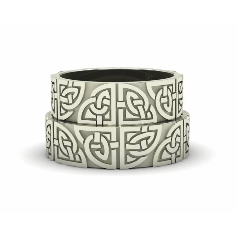 18k Gold Matching Celtic Rings