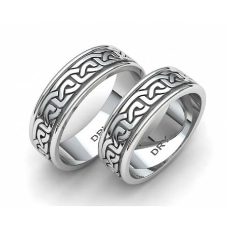 Alianzas de estilo celta en plata