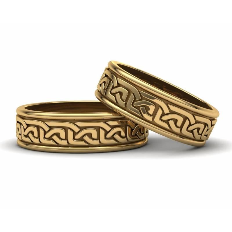 Alianzas estilo celta en oro