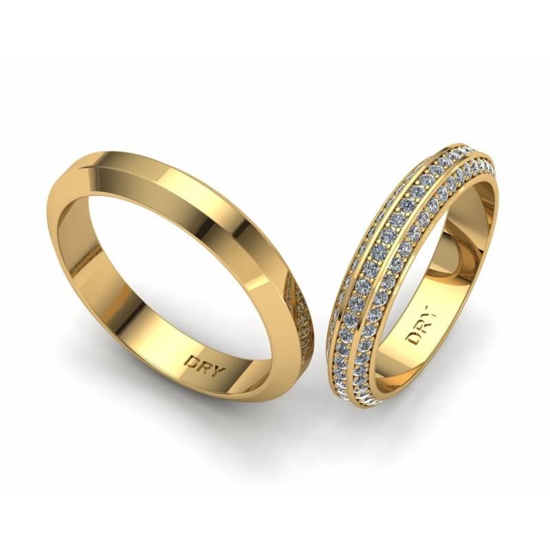 Alianzas Diamantes Biseladas