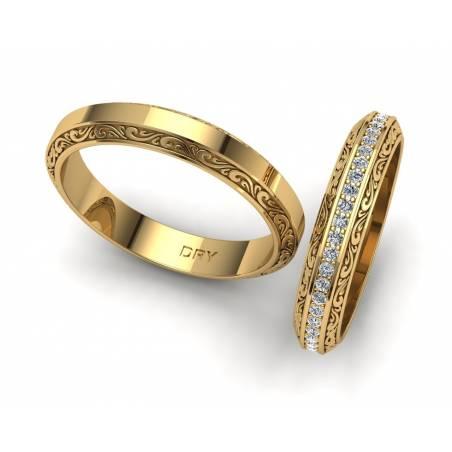 Alianzas Vintage Diamantes
