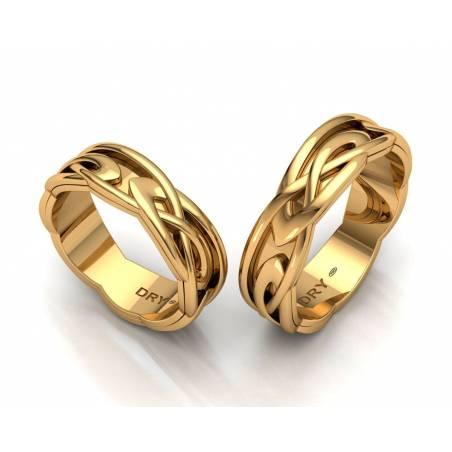 Alianzas nudos Celtas Oro Amarillo 6mm