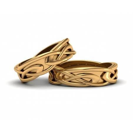 Alianzas Celtas Oro Amarillo 6mm