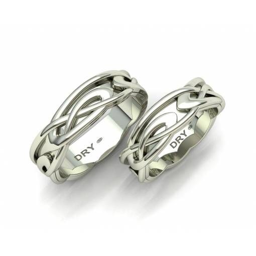 White gold celtic wedding rings 6mm width