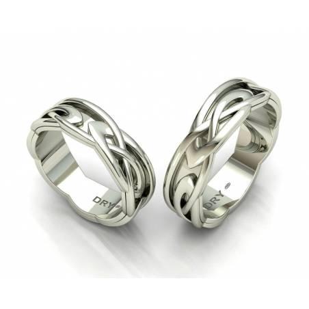 White gold celtic wedding bands 6mm width
