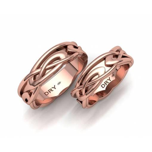 Alianzas nudos Celtas Oro Rosa 6mm