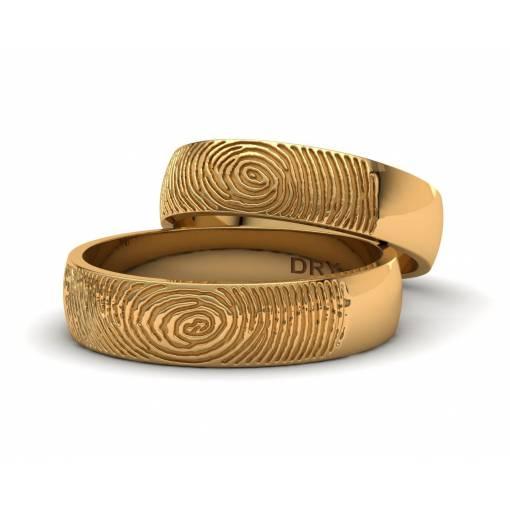 Anillos huella dactilar oro amarillo ref. 191139 ancho 5mm