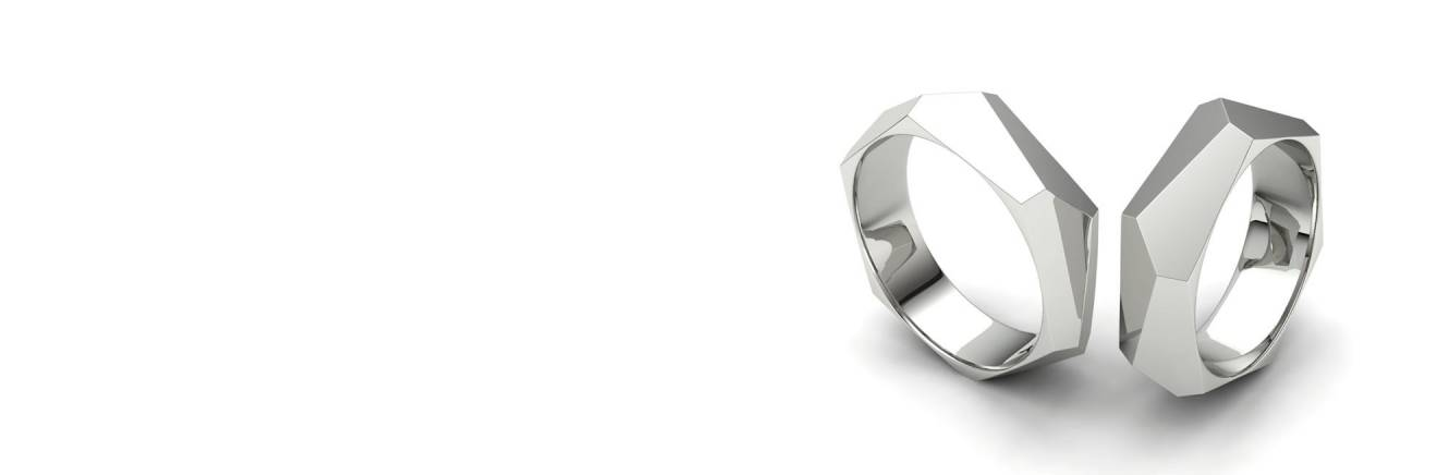 Silver Wedding Rings Collection