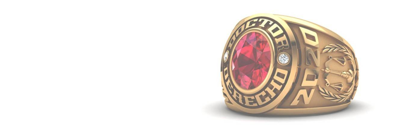 Silver and gold custom class rings