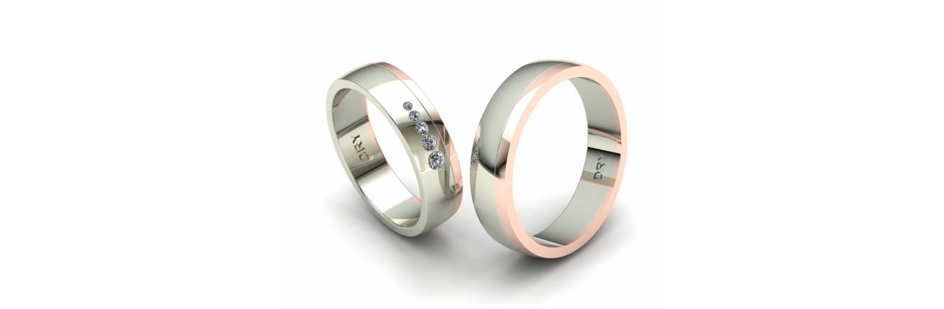 Classic wedding rings collection but with our unique touch