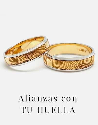 alianzas de boda con huella dactilar